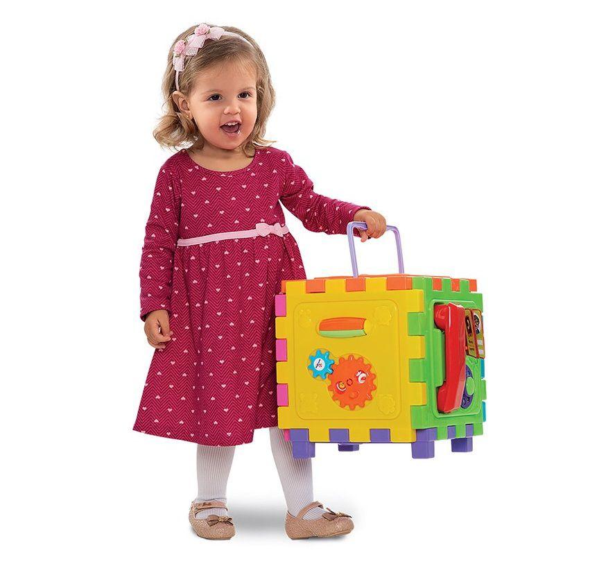 Cubo Didático Grande Sortidos - Mercotoys Brinquedos
