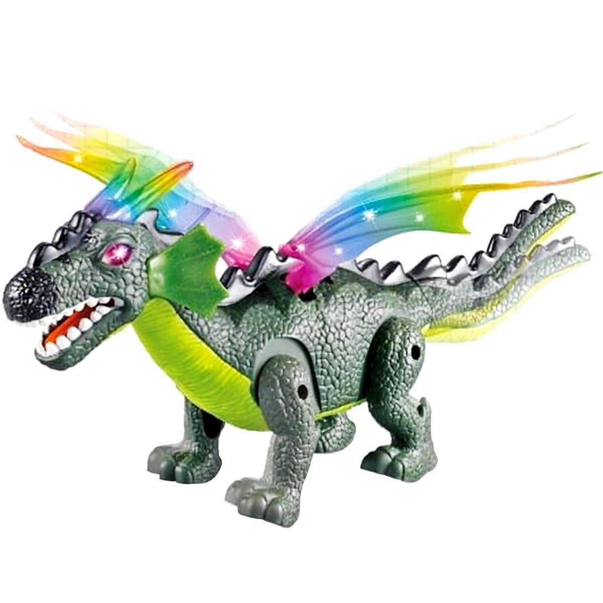 Dinossauro Dragossauro com Luz e Som - Dm Toys