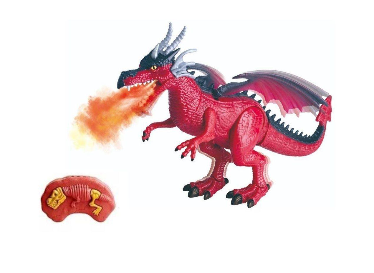 Dinossauro Dragossauro Solta Fumaça com Controle Remoto Infravermelho - Dm Toys