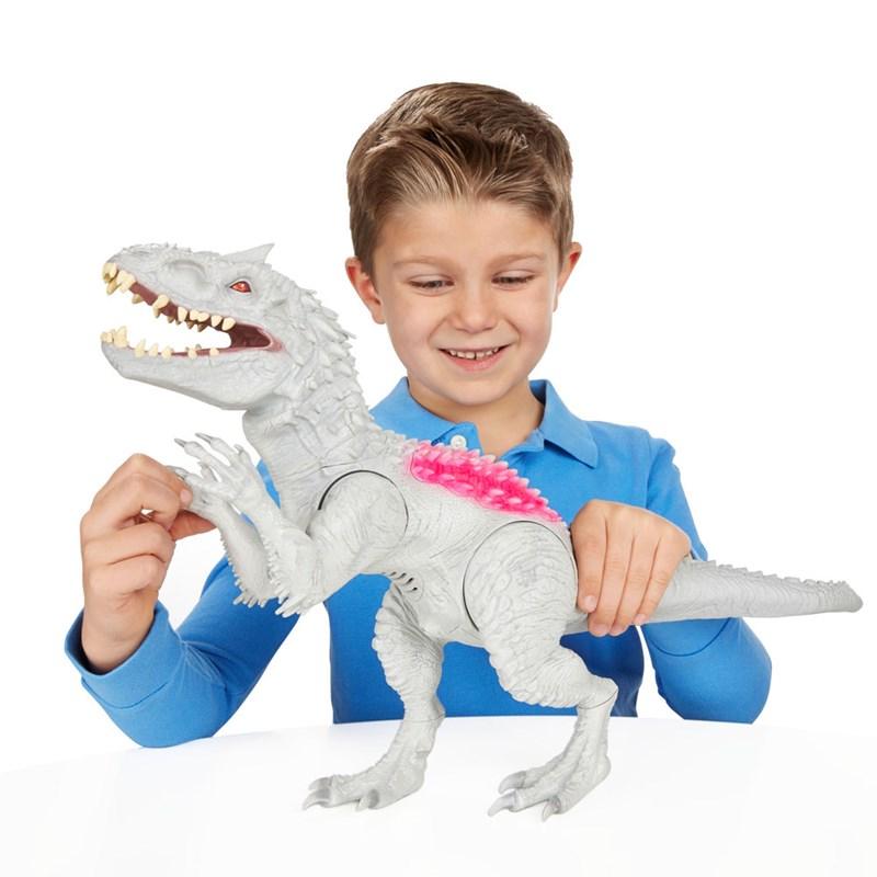 Dinossauro Jurassic World Dino Com Luzes e Sons Indominus Rex - Hasbro