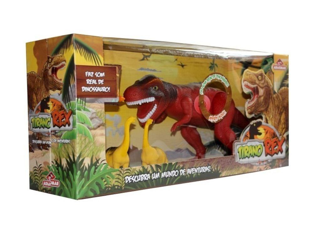 Dinossauro Tirano Rex Descubra Um Mundo de Aventuras - Adijomar