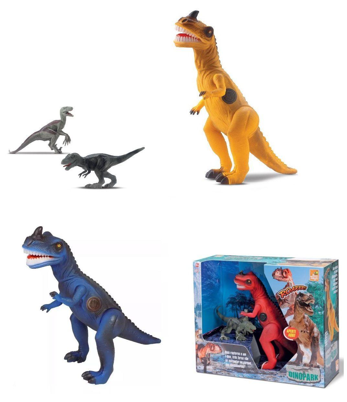 Dinossauro Tiranossauro Rex com 2 Raptors Sortidos - Bee Toys