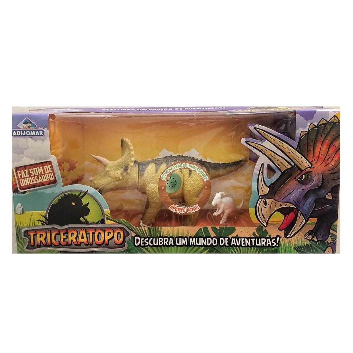 ... Dinossauro Triceratopo Descubra Um Mundo de Aventuras - Adijomar -  Descalshop ... d7f879f6636aa