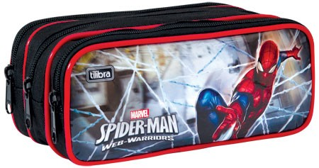 Estojo Escolar Triplo Grande Ultimate Spider Man - Tilibra