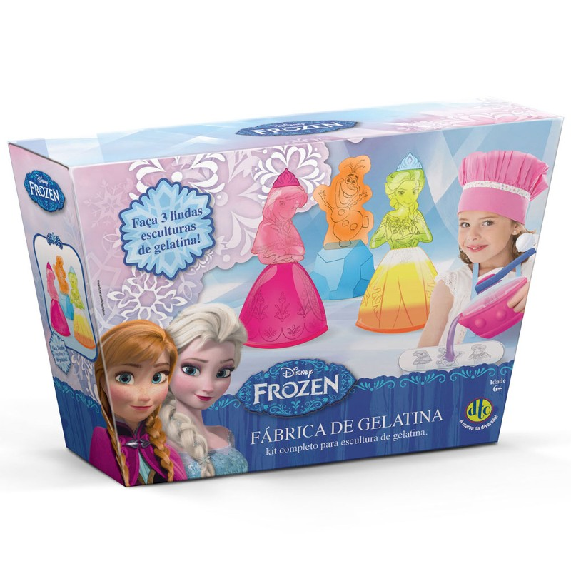 Fábrica de Gelatinas com Moldes Disney Frozen - DTC