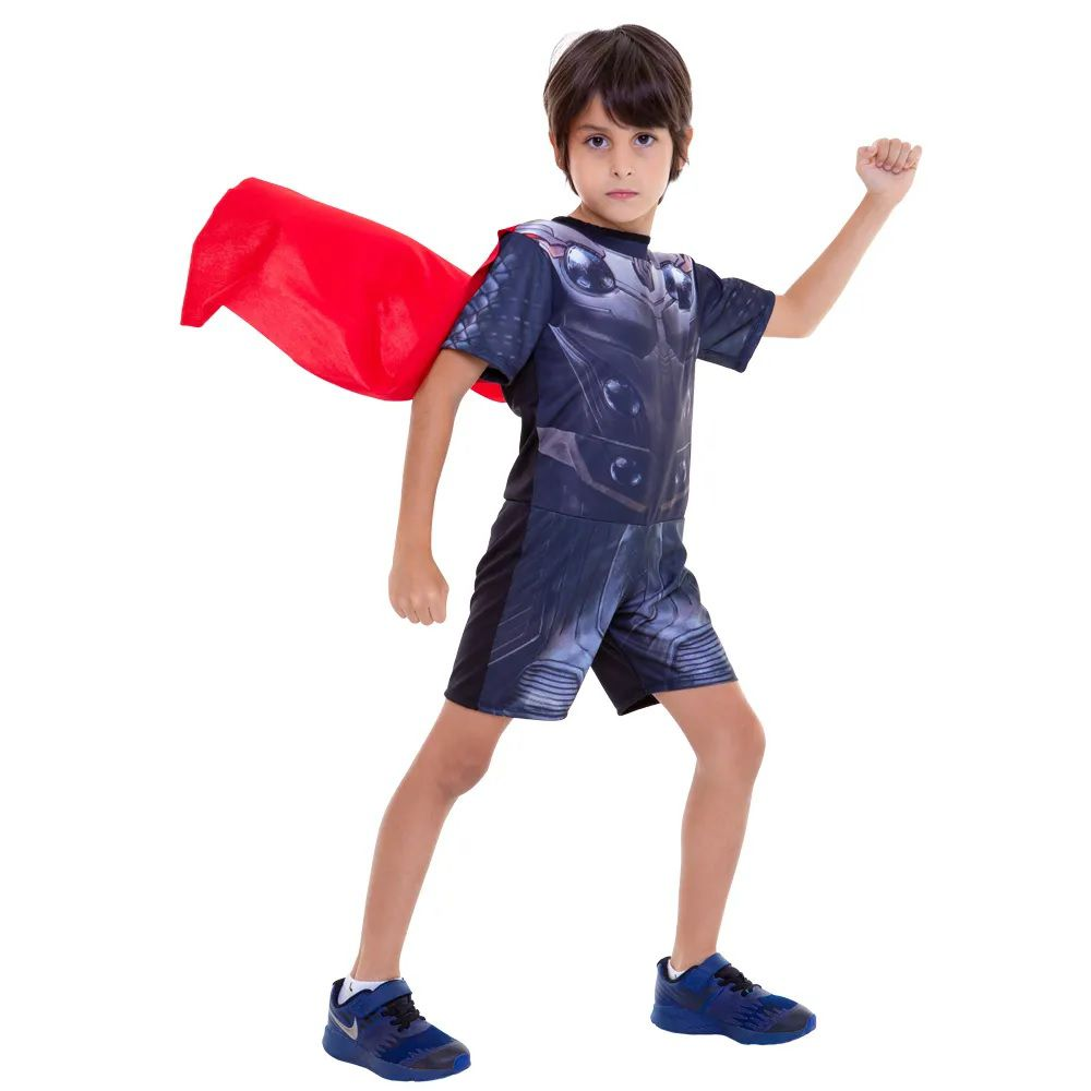 Fantasia Curta Infantil Marvel Vingadores Ultimato Thor G - Regina