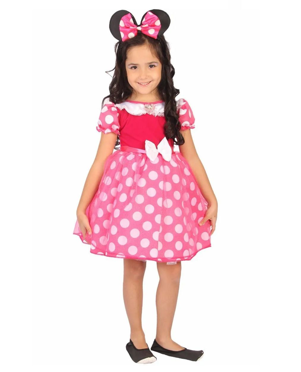 Fantasia Infantil Disney Junior Minnie Luxo Pink P - Rubies