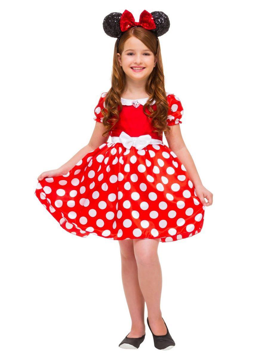 Fantasia Infantil Disney Minnie Mouse Luxo Vermelha G - Rubies