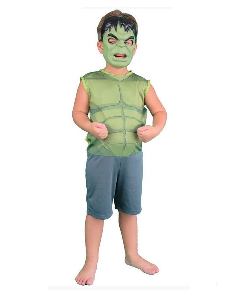 Fantasia Infantil Hulk Pop com Máscara M - Rubies