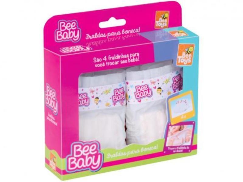 Fraldas para Boneca Bee Baby - Bee Toys