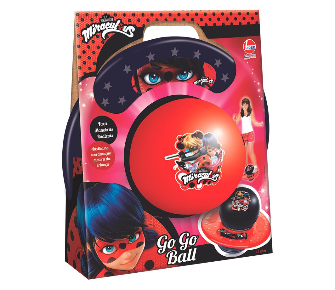 Go Go Ball Miraculous - Lider Brinquedos