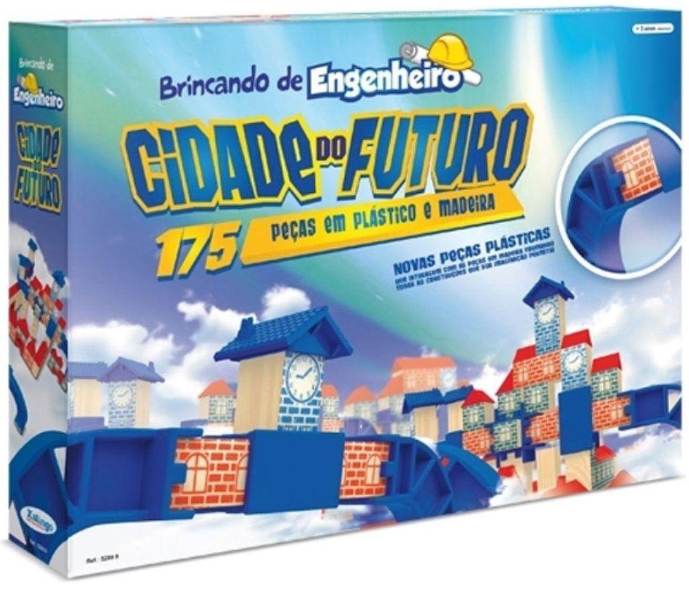 Jogo Brincando de Engenheiro Cidade do Futuro 175 Peças - Xalingo