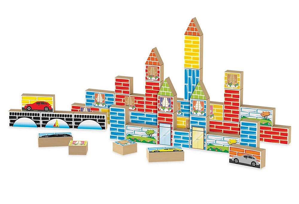 Jogo Construtor 40 Peças em Madeira - Junges