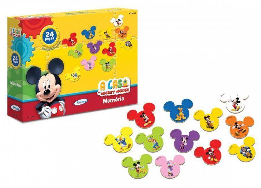 Jogo da Memória A Casa do Mickey Mouse 24 Peças em Madeira - Xalingo