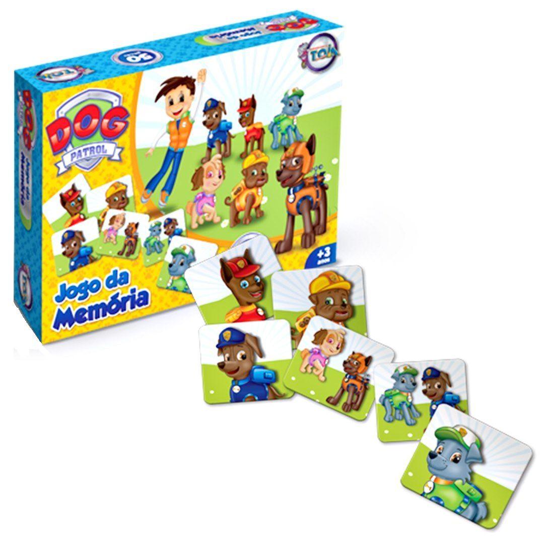 Jogo da Memória Dog Patrol 50 Peças - Toia Brinquedos