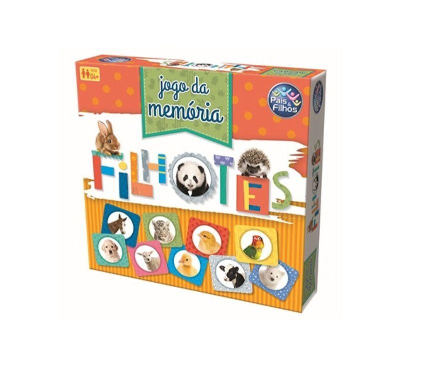 Jogo da Memória Filhotes 40 Peças - Pais e Filhos