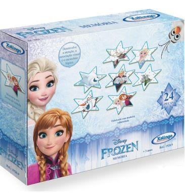 Jogo da Memória Frozen Disney 24 Peças - Xalingo