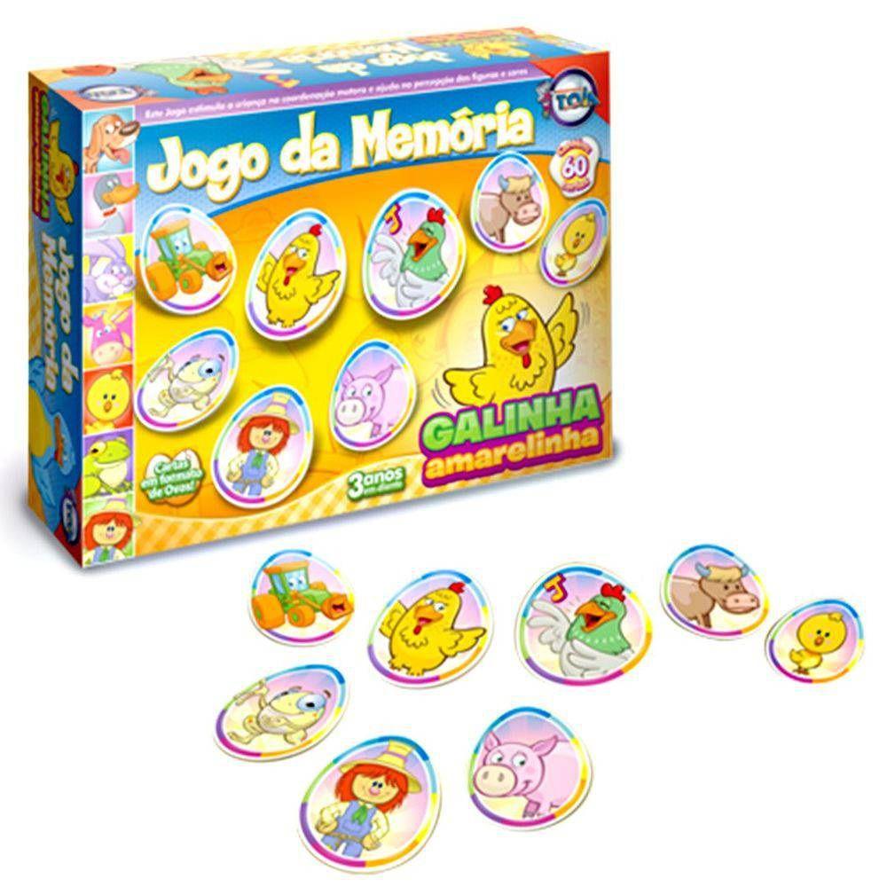 Jogo da Memória Galinha Amarelinha 60 Peças - Toia Brinquedos