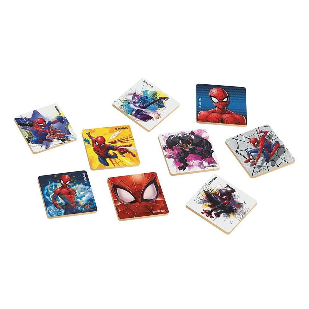 Jogo da Memória Marvel Homem Aranha 24 Peças em Madeira - Xalingo