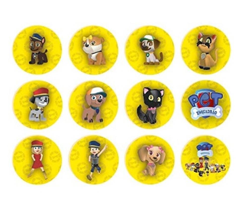 Jogo da Memória Pet Esquadrão 24 Peças em Madeira - Brincadeira de Criança