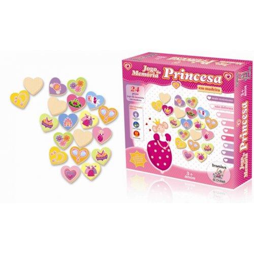Jogo da Memória Princesa em Madeira - Brincadeira de Criança