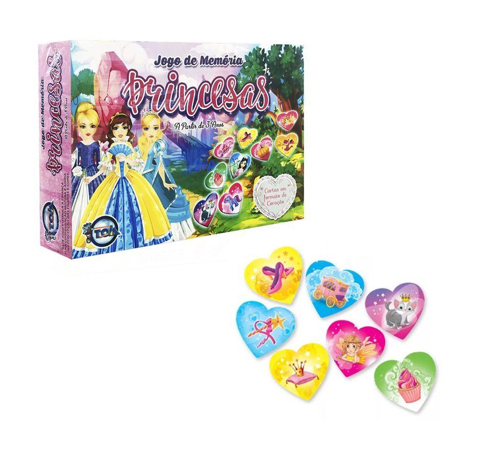 Jogo da Memória Princesas com 50 Peças - Toia Brinquedos