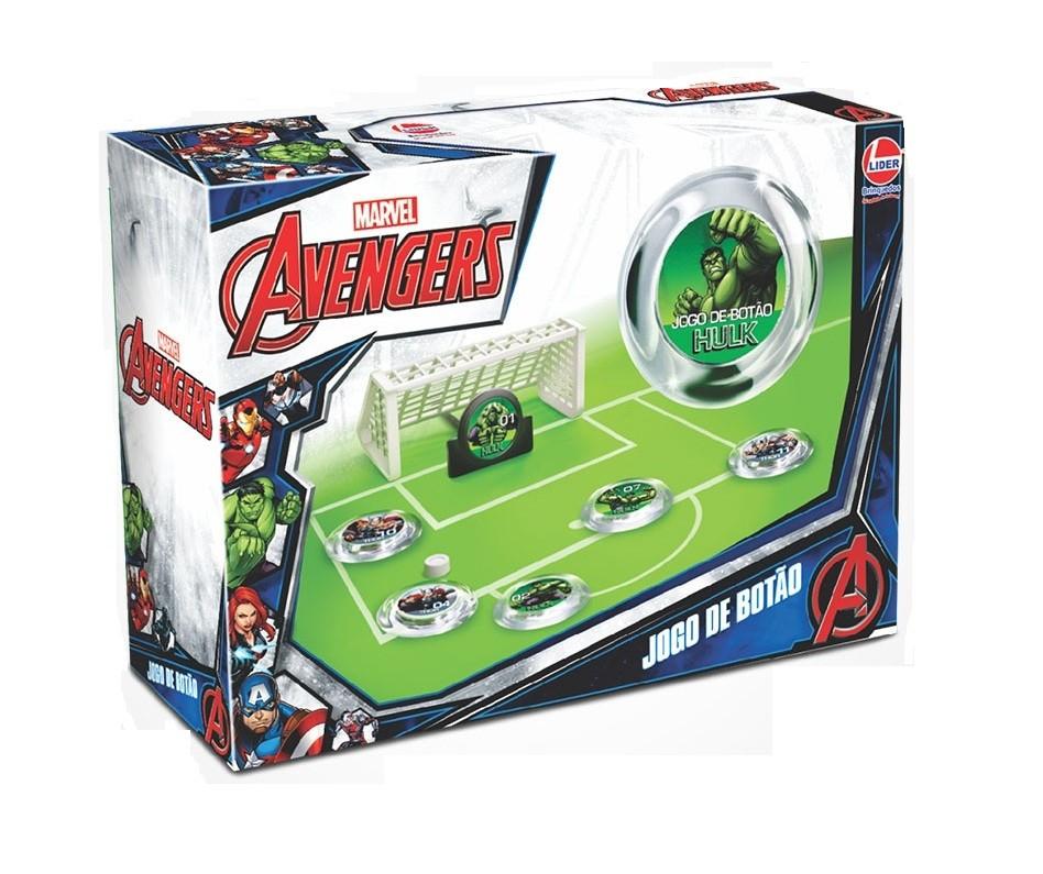 Jogo de Botão Marvel Avengers Sortidos - Lider