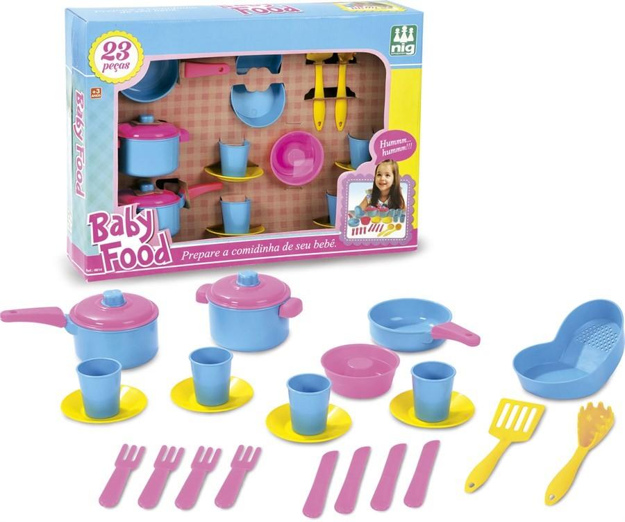 Jogo de Panelas Baby Food - Nig Brinquedos