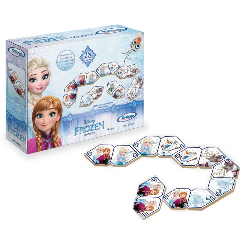 Jogo Dominó Educativo Frozen Disney - Xalingo