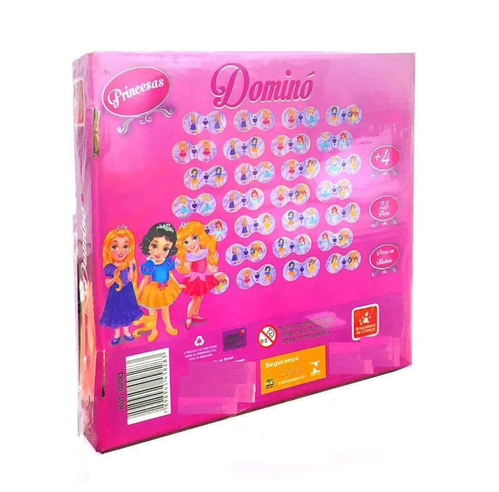 Jogo Dominó Princesas 28 Peças em Madeira - Brincadeira de Criança