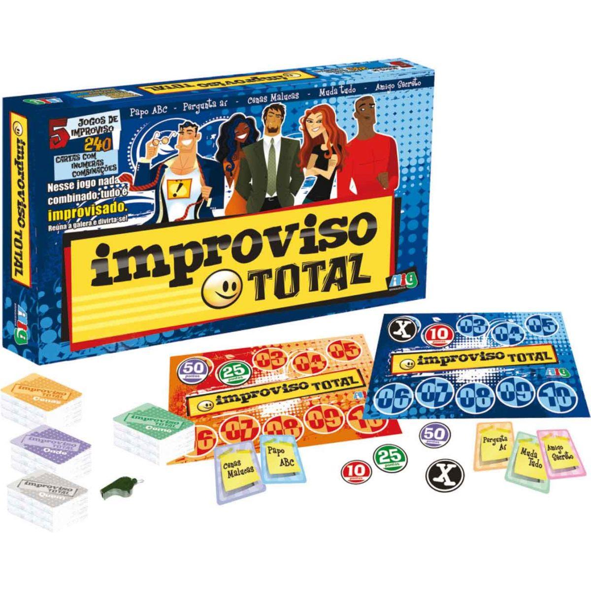 Jogo Improviso Total - Nig Brinquedos