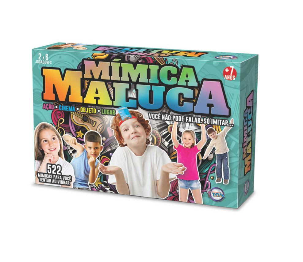 Jogo Mímica Maluca - Toia Brinquedos
