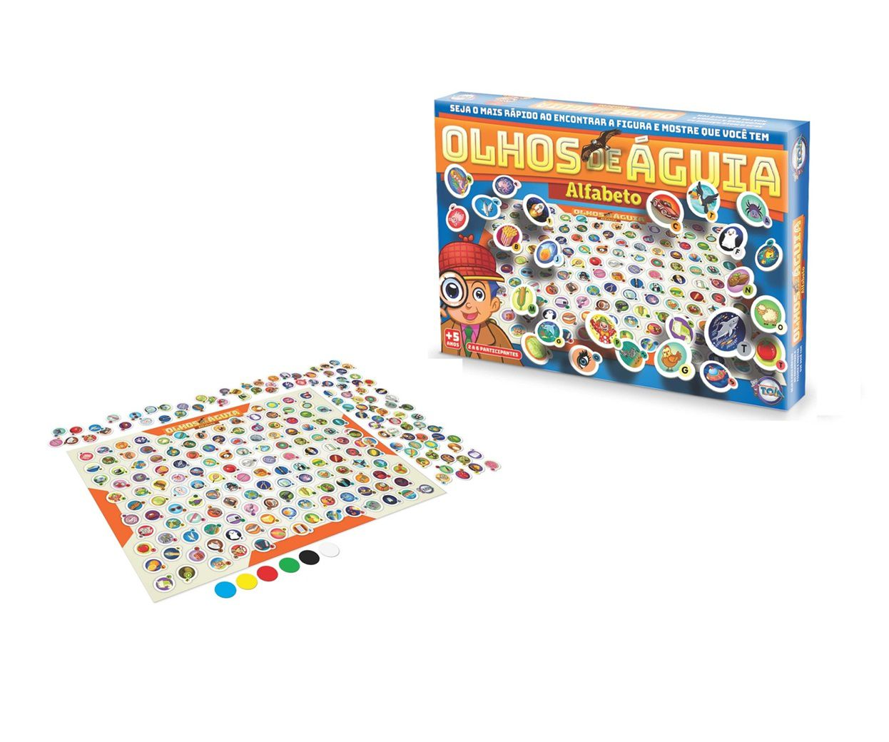 Jogo Olhos de Águia Alfabeto - Toia Brinquedos