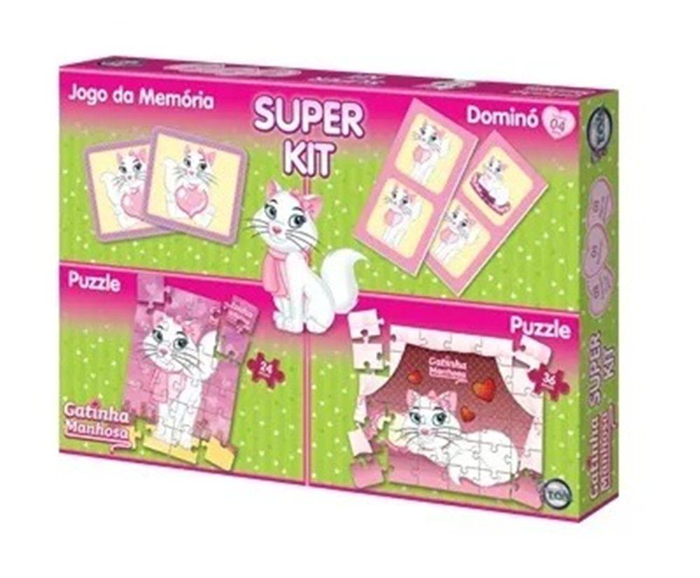Super Kit de Jogos Gatinha Manhosa - Toia Brinquedos