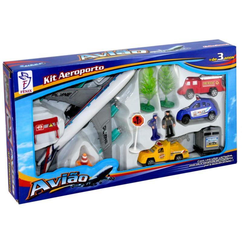 Kit Aeroporto Super Avião - Fenix Brinquedos