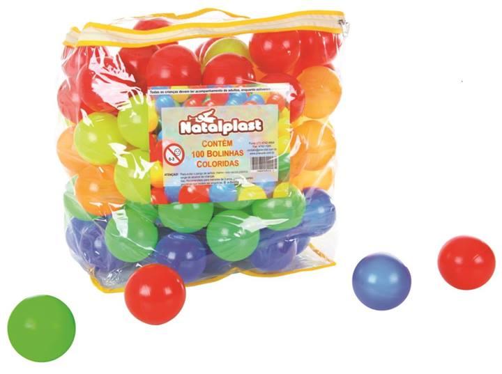 Kit Bolinhas Coloridas Com 100 Unidades - Natalplast