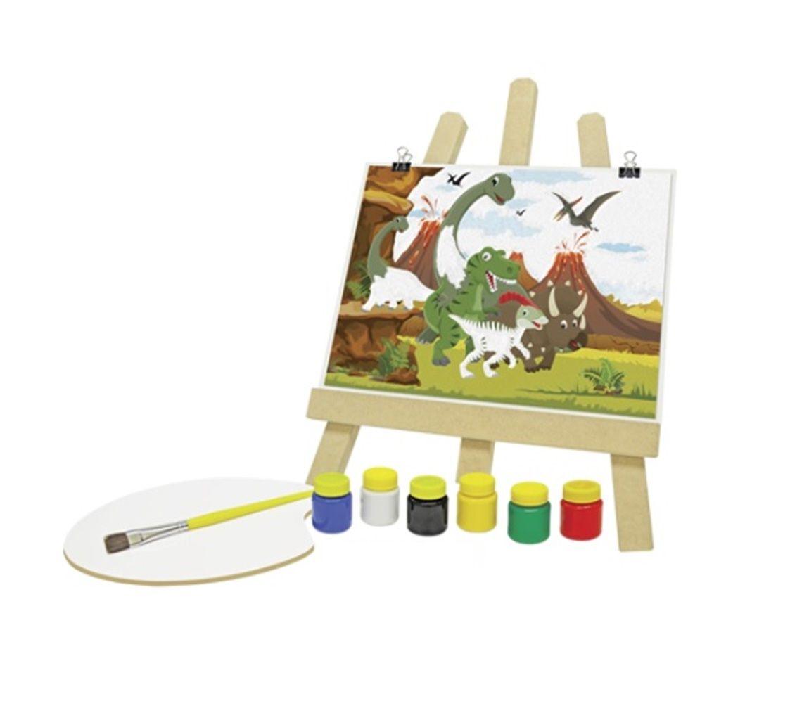 Kit de Pintura Dinos em Madeira - Junges