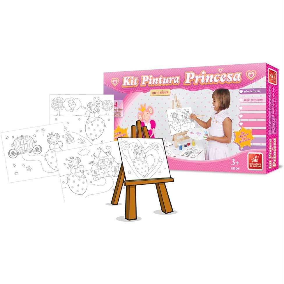 Kit de Pintura Princesa - Brincadeira de Criança