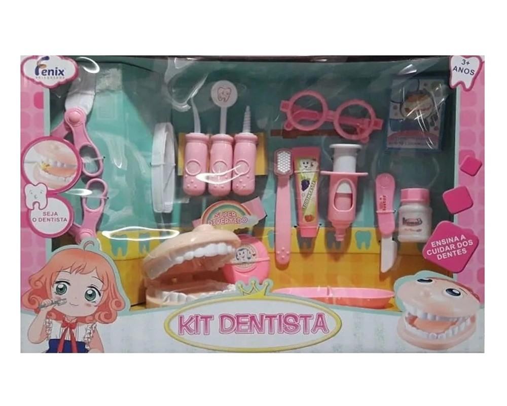 Kit Dentista 16 Peças Rosa - Fenix