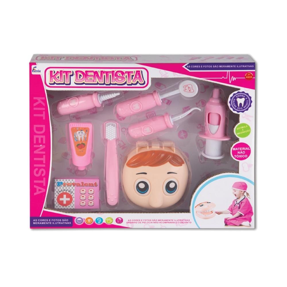 Kit Dentista Rosa - Fenix Brinquedos