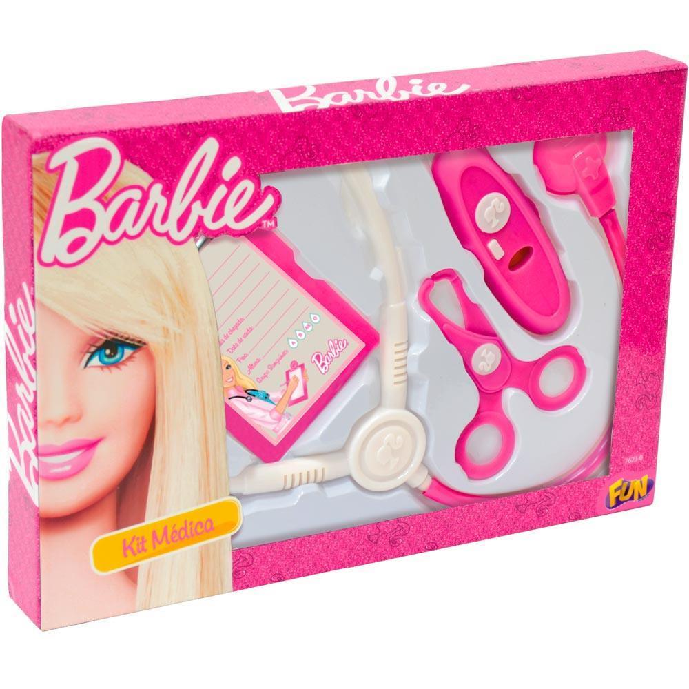 Kit Médica Barbie Básico com 4 Acessórios - FUN