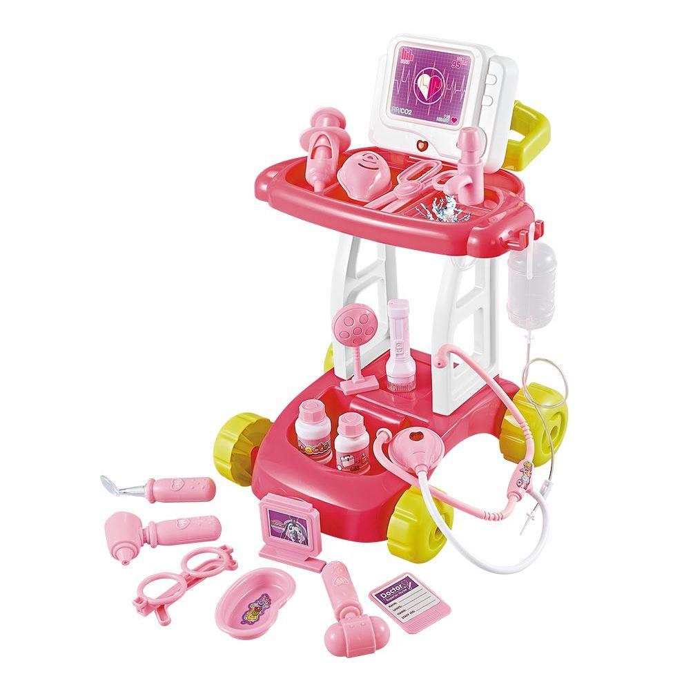 Kit Médico Doutor Dm com Acessórios Rosa - Dm Toys