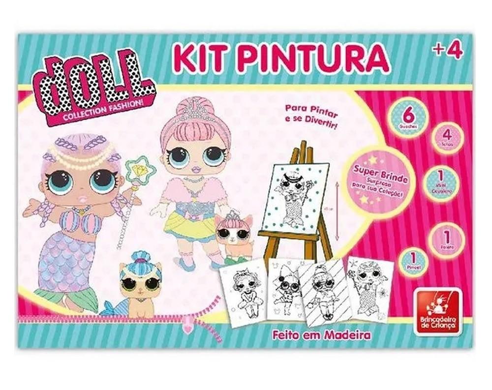 Kit Pintura Doll em Madeira - Brincadeira de Criança