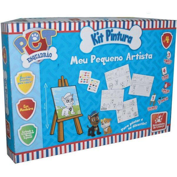 Kit Pintura Meu Pequeno Artista Pet Esquadrão - Brincadeira de Criança