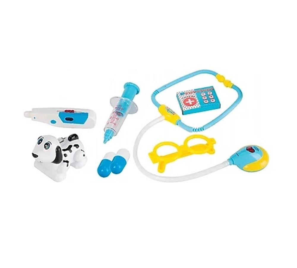 Kit Veterinário com Luz e Som 8 Peças - Fenix Brinquedos