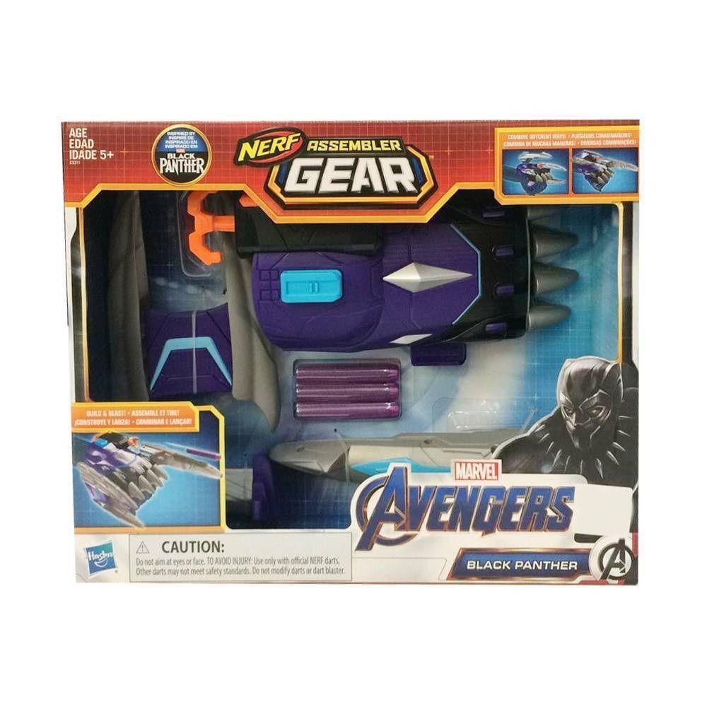 Lançador de Dardos Nerf Assembler Gear Avengers Pantera Negra - Hasbro