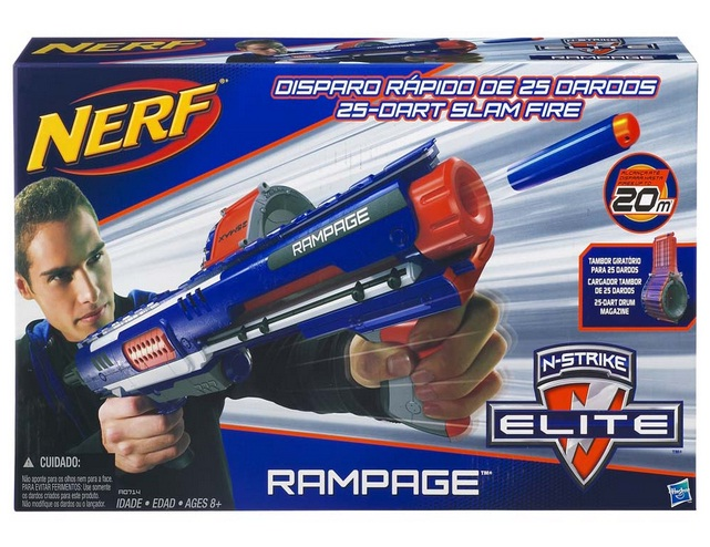 Lançador de Dardos Nerf N-Strike Elite Rampage - Hasbro