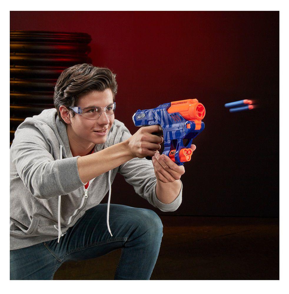 Lançador de Dardos Nerf N-Strike Elite Shellstrike DS-6 - Hasbro