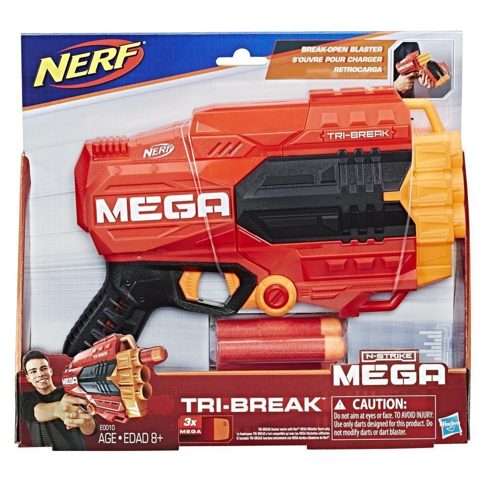Lançador de Dardos Nerf N-Strike Mega Tri-Break - Hasbro