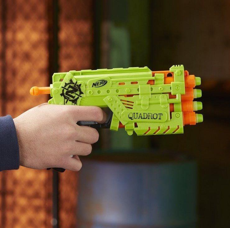 Lançador de Dardos Nerf Zombie Strike Quadrot - Hasbro
